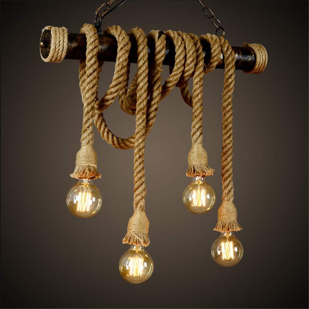 Industrieller Retro-Schnur-Leuchter Wasserleitungs-Technologie-Deckenleuchte Warehouse Kitchen Restaurant E27 Lampenfassung Höhenverstellbare Pendelleuchten