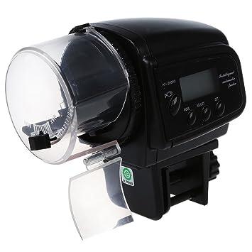 SODIAL Contador automatico Digital del dispensador del alimentador del Acuario del envase de Comida de Pescados