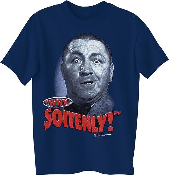 bbcbbb61 Amazon.com: ALLU Three Stooges- Why Soitenly! T Shirt: Clothing