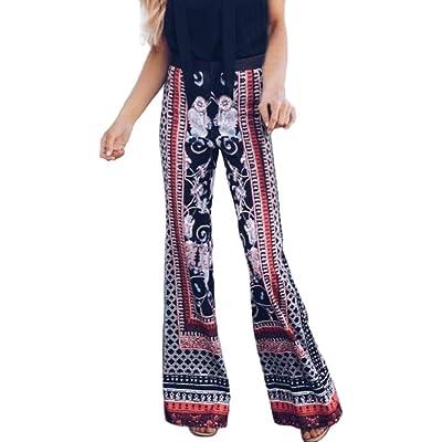b7192a7ebe7 Bohème Imprimé Pantalon Mode Femmes Pantalon Leggings Élastique Taille Été  Large Jambe Haute Yoga Pantalons GreatestPAK