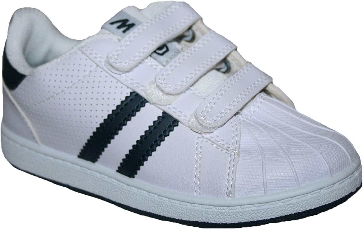 Footloose.Shoes New Kids Boys Girls School Shoes Trainers Pumps Football Tennis Hook and Loop Straps Sizes 8-2