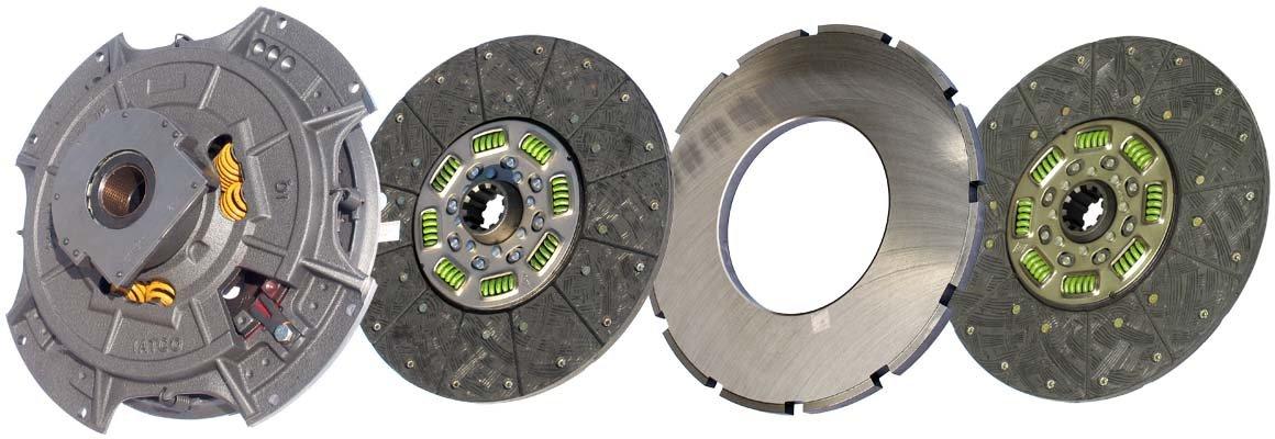 IATCO 107035-82-IAT 14'' x 1-3/4'' Angle Spring Clutch (Two-Plate, Organic / 8-Spring, 3600 Plate Load / 1100 Torque) by IATCO