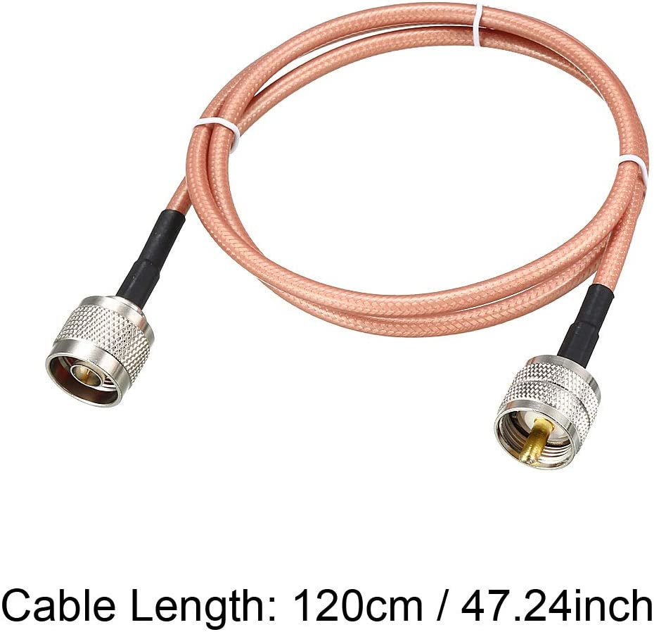 sourcing map Cable coaxial de RF de Baja pérdida RG-142 Macho N a ...