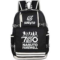 Cosstars Naruto Anime Luminoso Mochila Escolar Estudiante Backpack