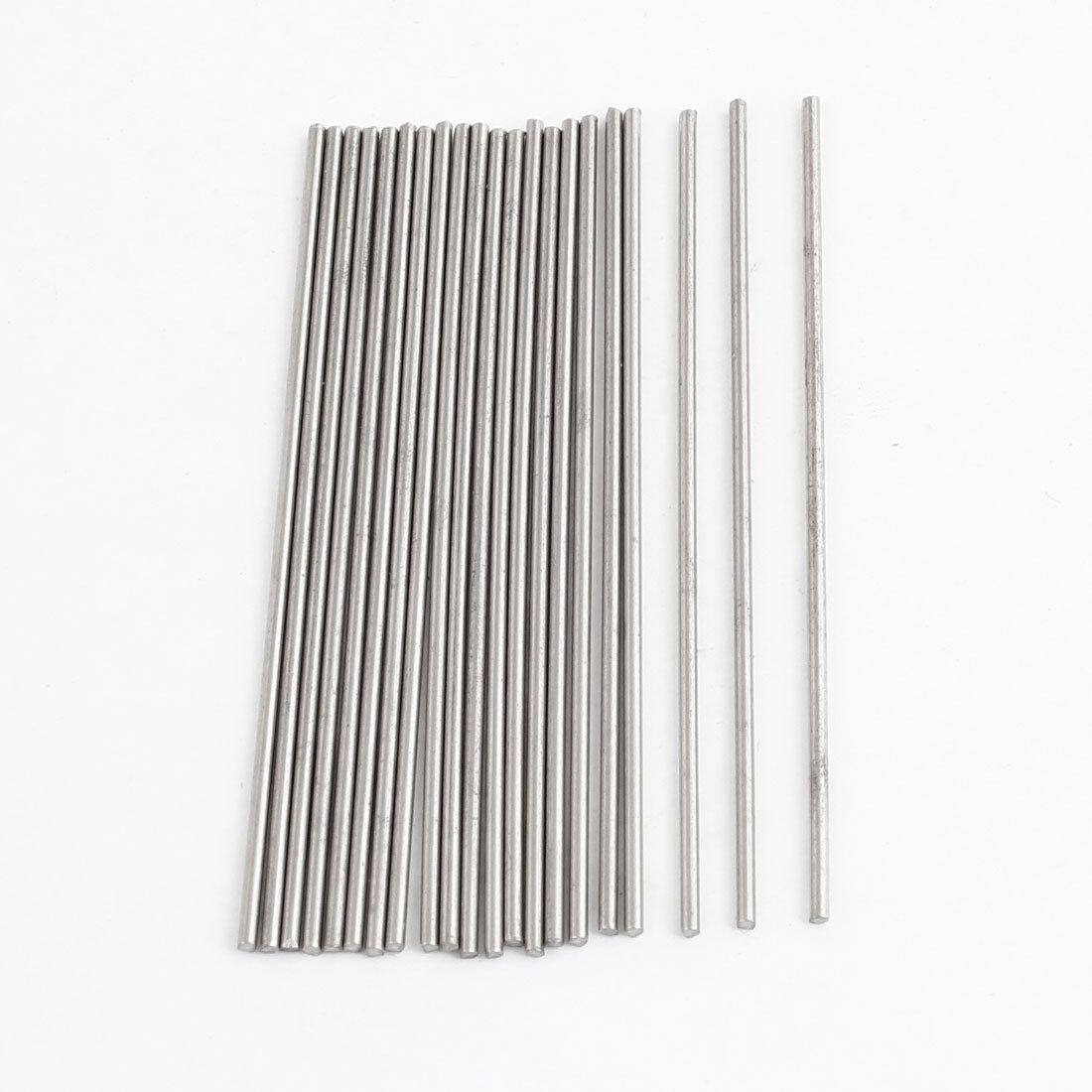 acier inoxydable argent/é 50/mm x 1/mm Rond Lot de 20/tiges de transmission