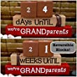 BABY REVEAL COUNTDOWN FOR THE NEW GRANDMA! Reversible and interactive stacking wood word block set for home decor...
