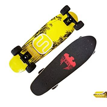ZH Skateboarding Scooter Big Wheel Brush Street Big Fish Board Maple Monopatín en Las Cuatro Ruedas para niños D: Amazon.es: Hogar