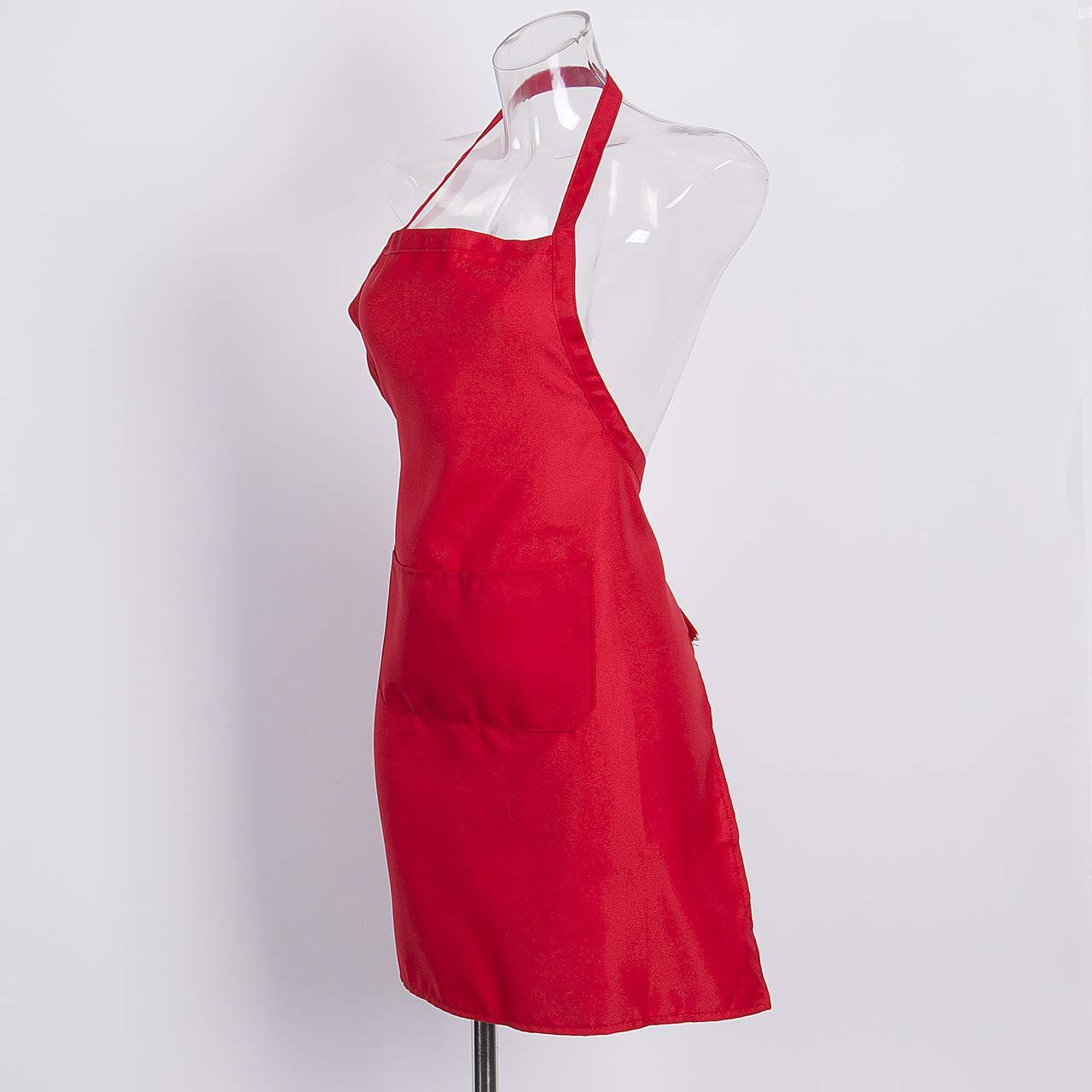 Adjustable Bib Apron Dress Men Women Kitchen Restaurant Chef Classic Cooking Bib