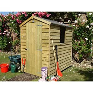 6FT x 4FT STOWE PRESSURE TREATED OVERLAP APEX GARDEN SHED