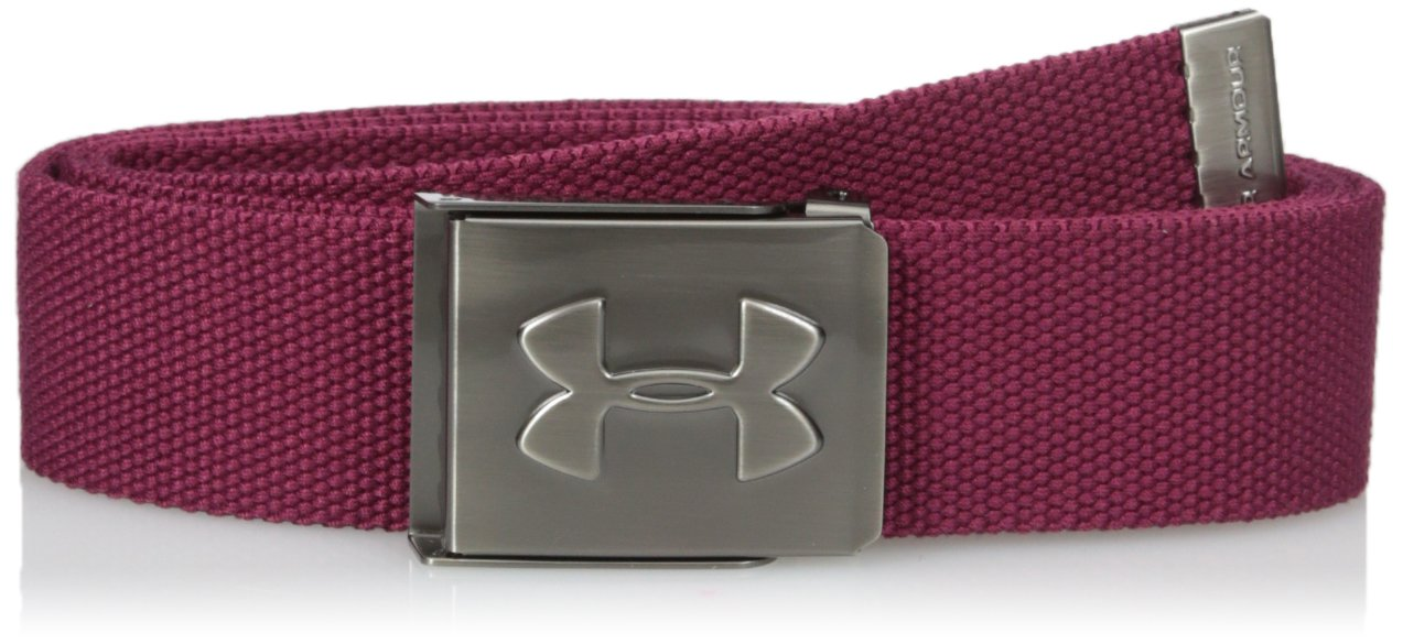 Under Armour Men's Webbed Belt, Black Currant /Graphite, One Size by Under Armour