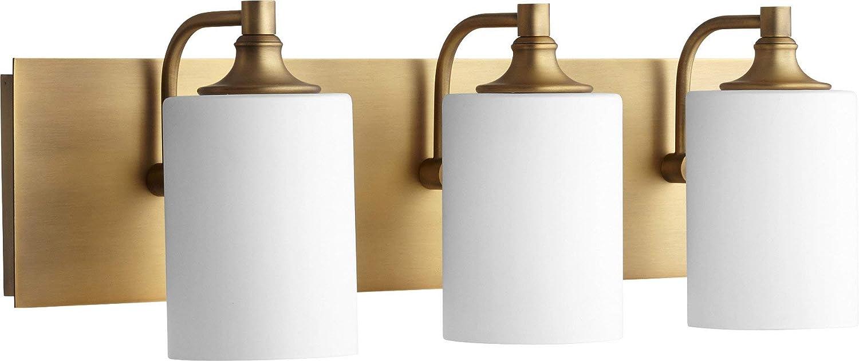 Quorum 5009-3-80 Celeste 24.5 3-Light Bath Vanity in Aged Brass