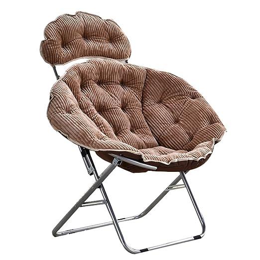 Khaki Moon Chair Lazy Corduroy Tela Plegable Sun Loungers ...