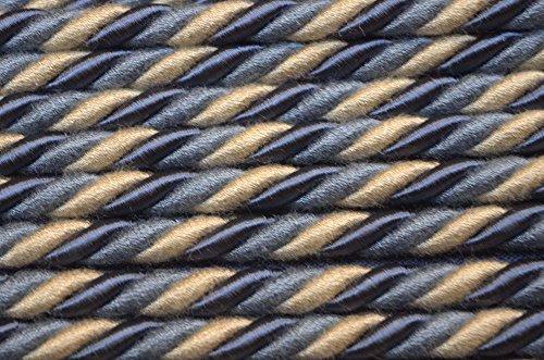 Blue Cream Cord Market Street Federal Fabricut Trim