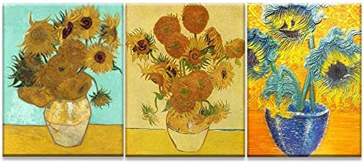 "Sunflower Vincent Van Gogh HD Canvas Art Print Oil Painting Wall Decor 12/""X16/"""
