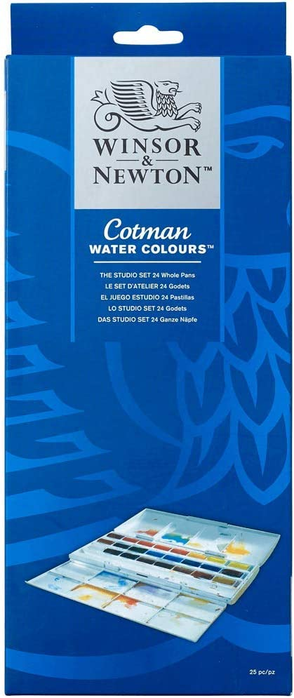 Winsor & Newton Caja plástica 24 Godets: Amazon.es: Oficina y ...