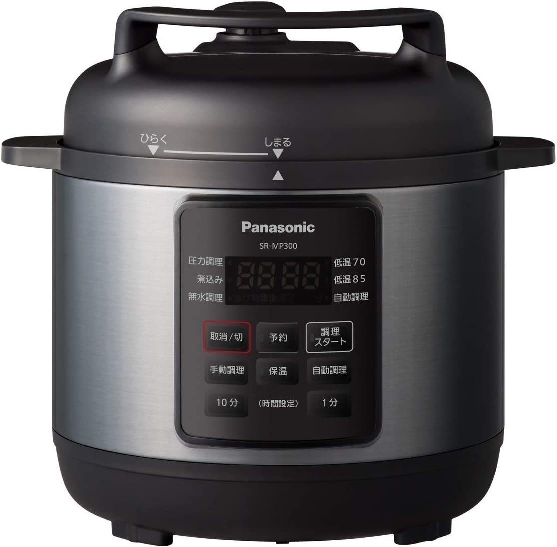 Panasonic Electric Pressure Cooker (3.0L) SR-MP300-K (BLACK)【Japan Domestic Genuine Products】【Ships from Japan】