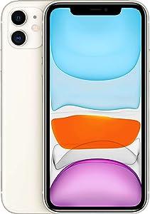 Apple iPhone 11, US Version, 256GB, White - Unlocked (Renewed)
