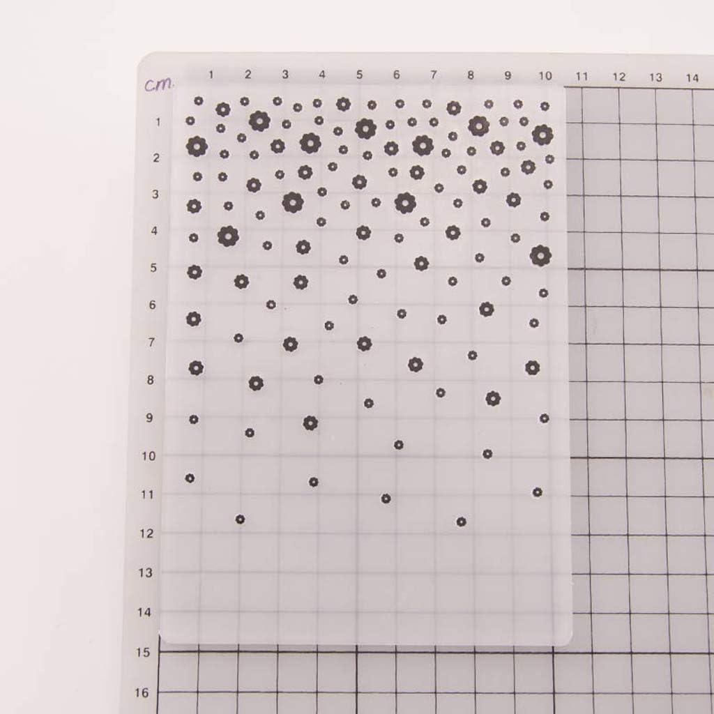 BUZHI Flower Embossing Folder Plastic Embossing Folder Scrapbook DIY Paper Cutting Dies Scrapbooking