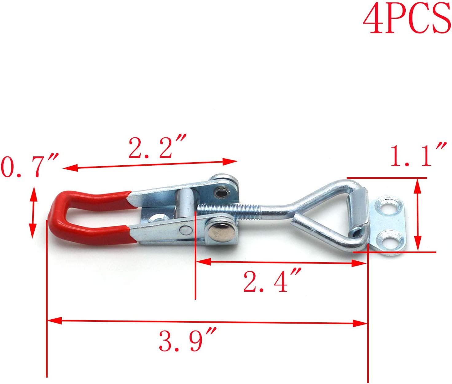 MTMTOOL 397Lbs Pull Latch Capacity Adjustable Toggle Latch Catch Clip Clamp,4-Pack