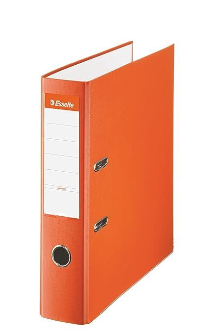 Esselte 42322, Archivador de Palanca de PP de Plástico Forrado, Gris, Anchura lomo: 75 mm & AmazonBasics Papel multiusos para impresora A4 80gsm, 1 ...