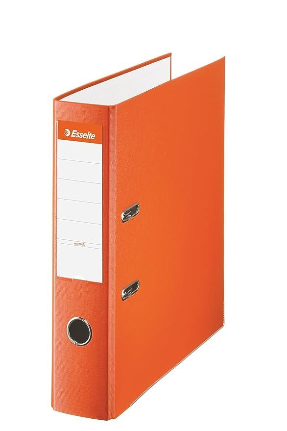 Esselte 42324, Archivador de Palanca de PP de Plástico Forrado, Amarillo, Anchura lomo: 75 mm: Amazon.es: Oficina y papelería