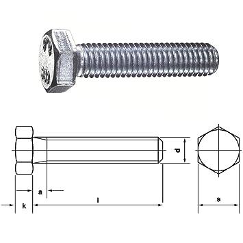 100 Stück Sechskantschrauben DIN 933 Edelstahl A2-80 Gewinde bis Kopf M12x 40