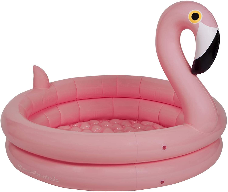 SunnyLIFE Inflatable Backyard Pool//Ball Pit Flamingo