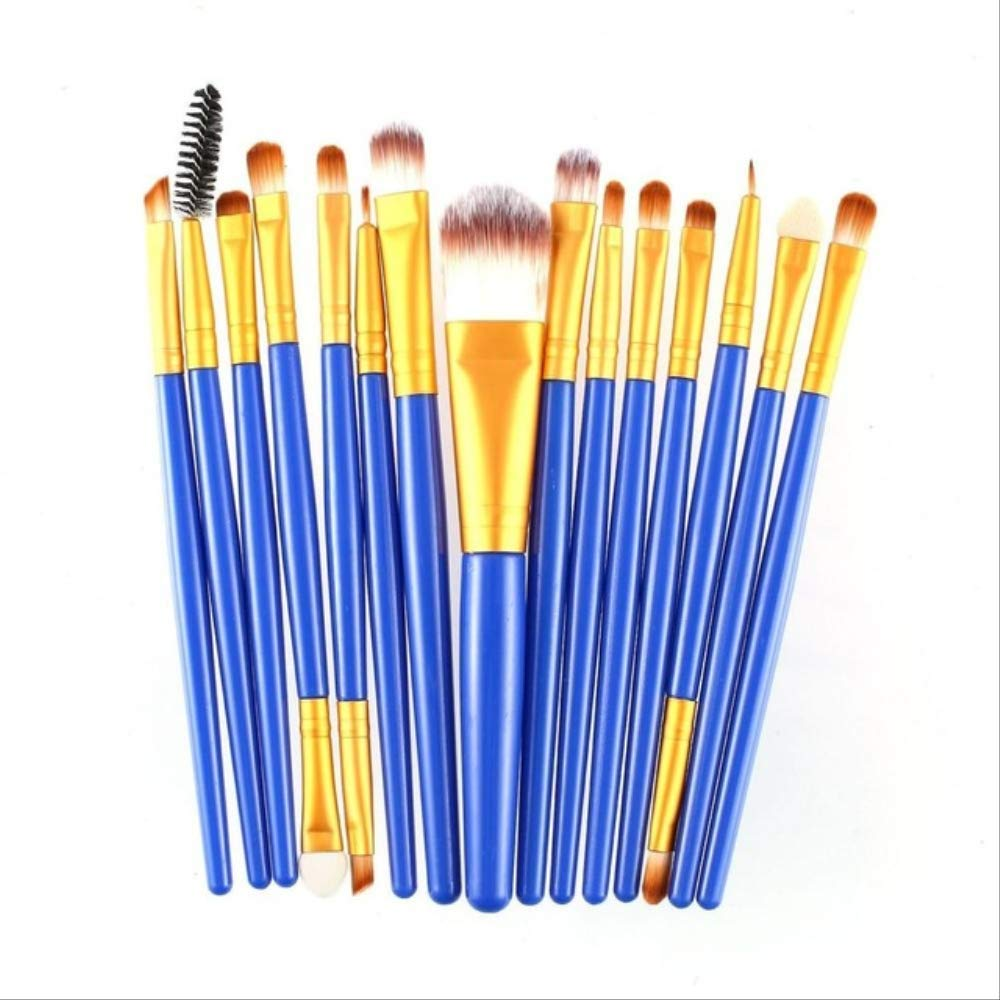 LFSHYP Makeup brush kit 20pcs/set Makeup Brushes Pro Blending Eyeshadow Powder Foundation Eyes Eyebrow Lip Eyeliner Make up Brush Cosmetic Tool 15pcs