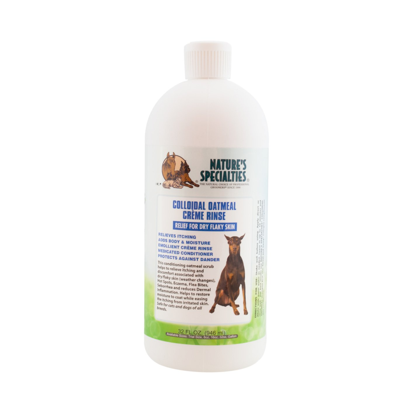 Nature's Specialties Oatmeal Crème Rinse Pet Conditioner, 32-Ounce