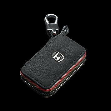 Honda Auto de llave Key Cover Case Funda para Llavero de Piel con Cremallera Estuches de Llaves Coche X00-8: Amazon.es: Coche y moto