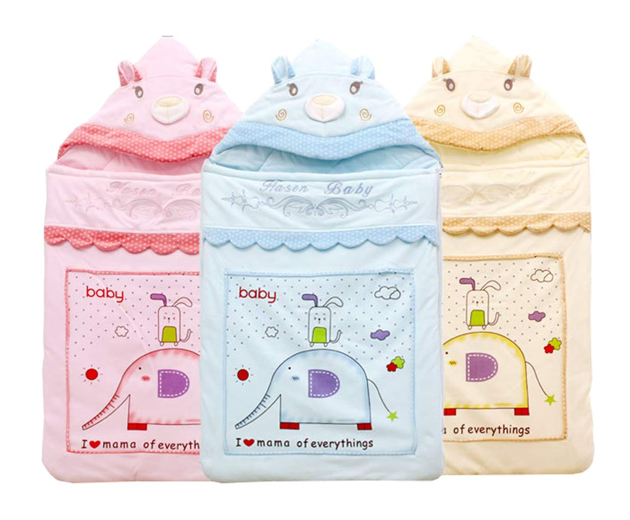 ML Saco de Dormir para bebés, bebé, Dibujos Animados, recién Nacido Lindo, algodón cálido Que se Espesa, Abrazo, niño y niña (0-12 Meses),Blue,S: Amazon.es: ...