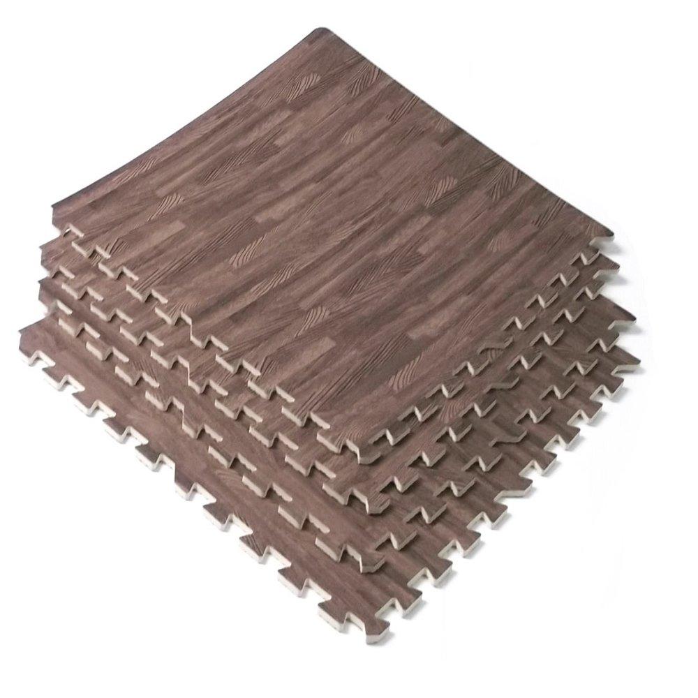 Amazon 96 sq ft dark wood grain eva mats foam interlocking amazon 96 sq ft dark wood grain eva mats foam interlocking flooring gym exercise 24 pc office products doublecrazyfo Image collections