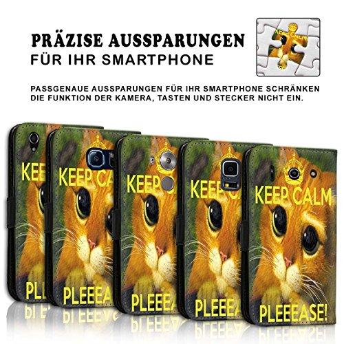 Wallet Book Style Flip Handy Tasche Case Schutz Hülle Schale Motiv Etui für Apple iPhone 4 / 4S - Design Flip MVD360