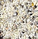"Safe & Non-Toxic {Small Size, 0.3"" Inch} 30 Pound Bag of Gravel & Pebbles Decor for Freshwater & Saltwater Aquarium w/ Classic Natural Matte & Shiny Greek River Style [White, Gray, Black, Tan & Brown]"