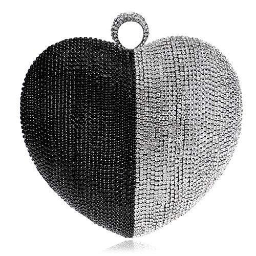 C Bandoulière Pejgd De Avec Forme couleur Coeur La À Femmes Sac Strass Sac Épaule Personnalisable À Mode Pour En En qwaHg