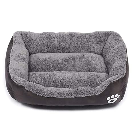 zhenghewyh Cama para Perros con cojín Reversible Perro sofá Dormir Espacio Inferior un Antideslizante Suelo (tamaño a Elegir de S hasta XXL
