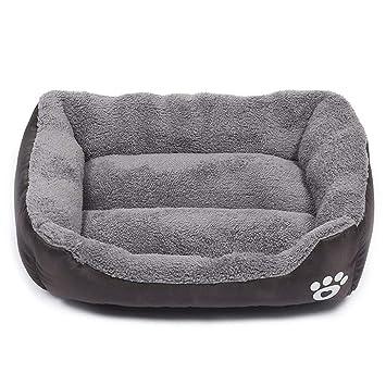 zhenghewyh Cama para Perros Gato Cesta Mascotas Pequeña Medio Grande Lavable (M:54 * 42 CM, café): Amazon.es: Hogar