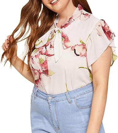MOTOCO Mujer Tallas Grandes Camiseta para Damas Tops ...