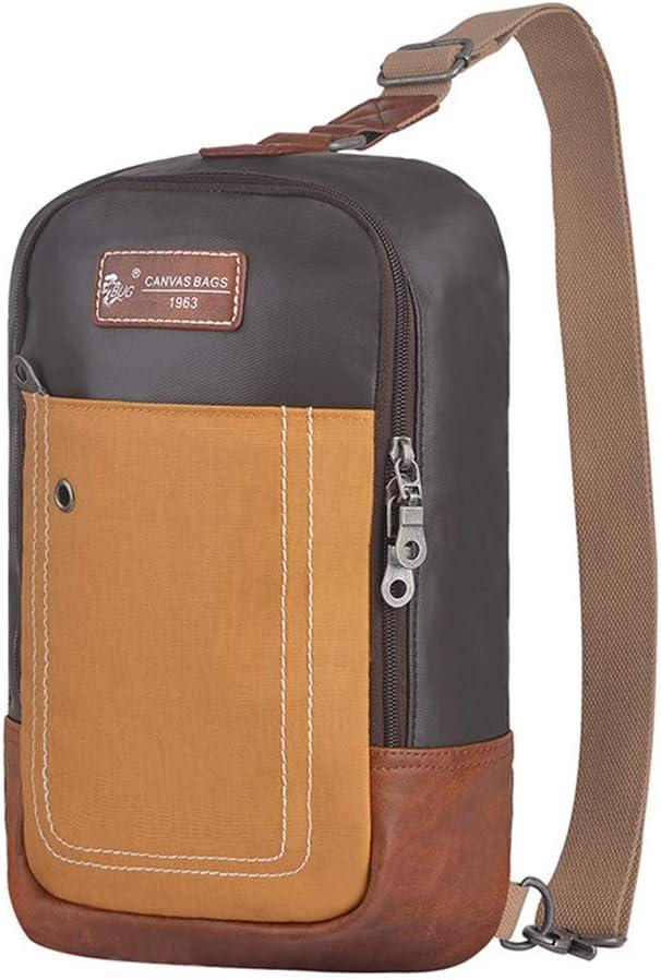Jaiconfiance Shoulder Bags Canvas Bag Shoulder Bag Satchel Bag Sling Shoulder Cross Body Bag Backpack Casual Day Pack for Men Women School Travel Handbag