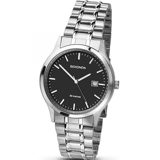 82a7c2d0cad2 Sekonda 3730 - Reloj para hombres color plateado  Babar  Amazon.es ...