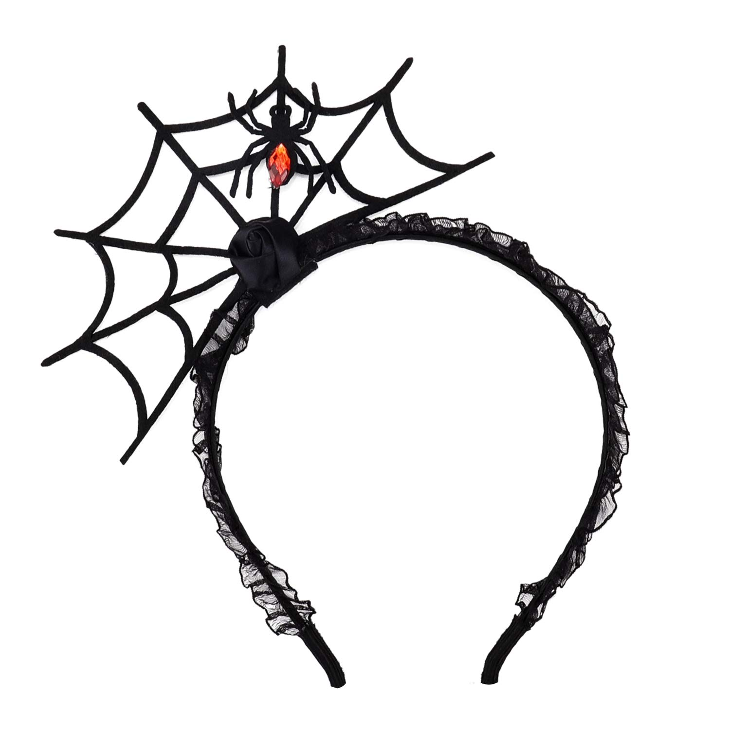 Halloween Spider Web Headband Spider Web Hairhoop for Cosplay by Jeicy