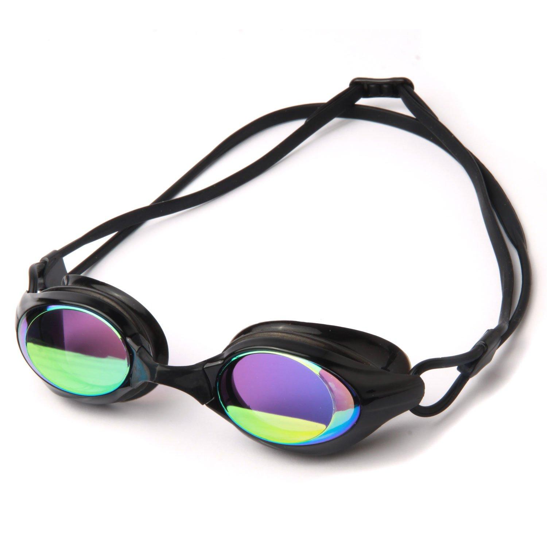 e6fe07e7c31 Poqswim Aqua Mirrored Swim Goggles 8300 Anti-fog Uv Protection