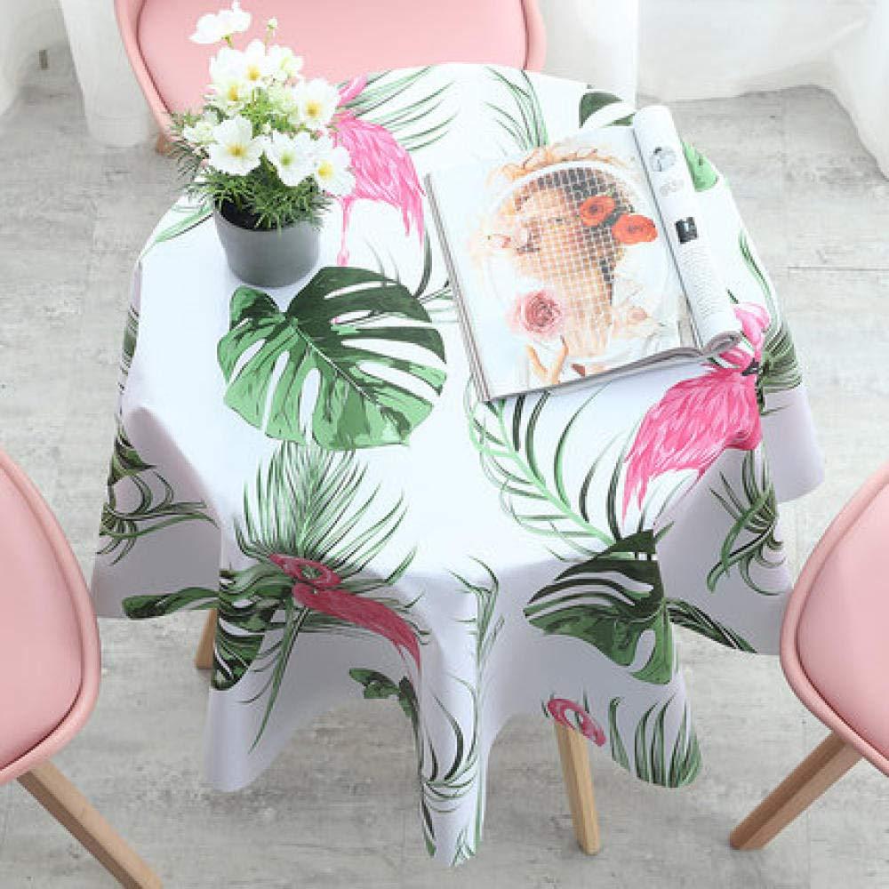 WJJYTX tischdecke Plastik, Round Modern/Protector Textile Backing Flamingo im nordischen Stil @ 180