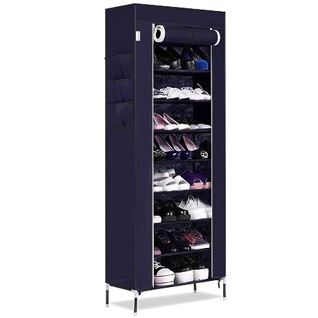 Amazon.com: Homdox 10 Tiers Shoe Rack with Cover Closet Shoe ...