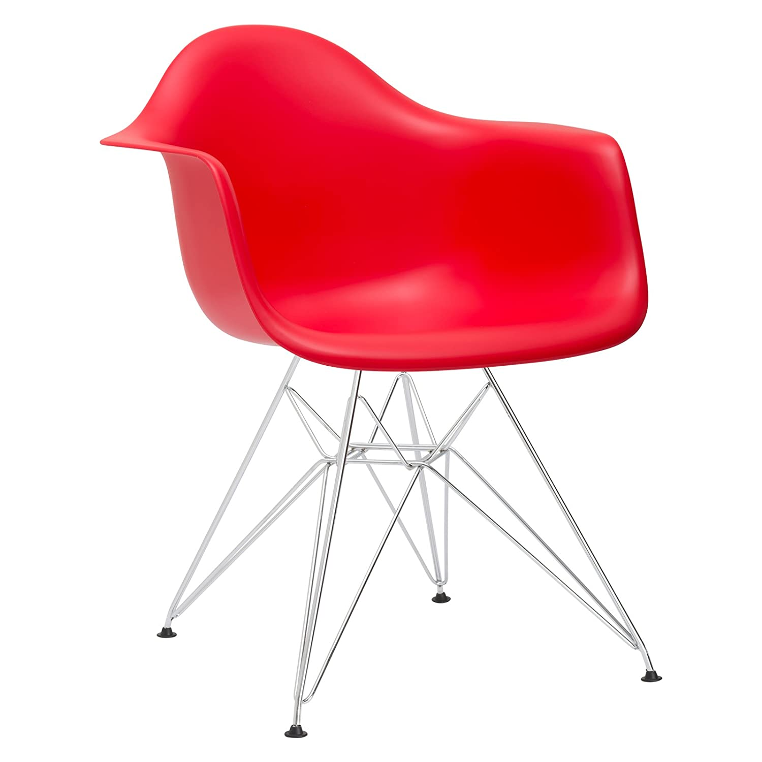Poly and Bark Padget Arm Chair in Red EM-111-CRM-RED