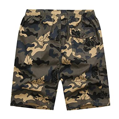 Zimaes-Men Set Baggy Floral Print Short Elastic Waist Shorts 2 Piece