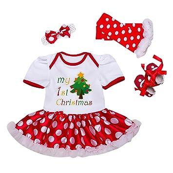 78510ce13b0c0 Deguisement Enfant Bébé Fille Coton à Manches Courtes Barboteuse + Bandeaux  + Collant + Chaussures 4pcs