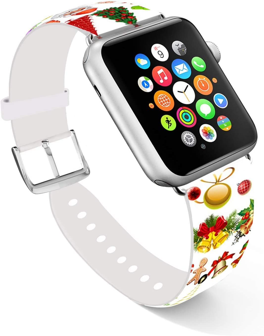 Ecute Compatible with Apple Watch Band 38mm 40mm, Soft Leather Band Strap Compatible with iWatch Series 6/5/4/3/2/1