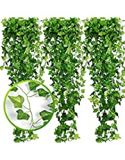 Fake Vines, Artificial Ivy , Artificial Vines for Room Decor, Faux Leaves Hanging Greenery Ivy Garland for Party Garden Wedding Decor Home Wall Decoration