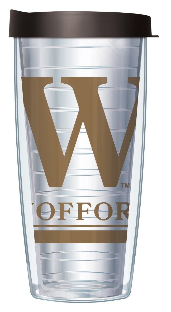 Wofford College Large Logo Clear 16 Oz Traveler Tumbler Mug with Lid